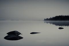 Pastel in B/W (trm42) Tags: morning autumn sky blackandwhite lake reflection water rocks frost duotone toned seinjoki syksy 1c jrvi pohjanmaa hirvijrvi aamu kivet etelapohjanmaa