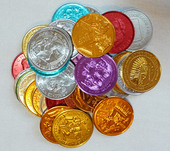 Coins of the realm (Monceau) Tags: colorful coins neworleans mardigras doubloons coinoftherealm