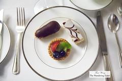 Chocolate eclair, Napoleon, fruit tart (thewanderingeater) Tags: nyc manhattan champagne afternoontea uppereastside thelowell thepembrokeroom