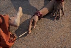 touch of life!, somewhere on the highway (nevil zaveri (thank you for 10million+ views :)) Tags: road people woman india feet photography photo blog women highway worship photographer hand photos stock images photographs photograph mp conceptual devotee zaveri saree darshan stockimages bangles narmada nevil madhyapradesh pranaam nevilzaveri dandavat