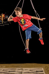 human marionette (Flavio~) Tags: boy red kid air creative ps flashphotography ropes marionette nadav homestudio