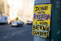 Done with dystopia (kzoop) Tags: nyc newyorkcity newyork sign brooklyn election gothamist bernie vote voting dystopia berniesanders feelthebern