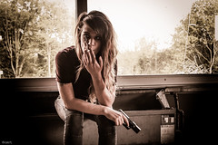 TWD (coypucurt) Tags: urban girl germany dead exploring smoking shooting desolate apocalyptic afterlife lostplace twd sombie urabnexploring