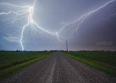Essex County Lightning (Cale Best Photography) Tags: county ca nightphotography light summer ontario canada storm nature weather night landscape streak farm sony country sigma alberta bolt windsor dirtroad lightning essex stormchasing improvementdistrictno9 calebest