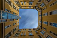 Berliner Hinterhof (Sascha Gebhardt Photography) Tags: sky berlin photoshop germany deutschland nikon hauptstadt nikkor fx haida hinterhof d800 lightroom langzeitbelichtung fototour 1424mm