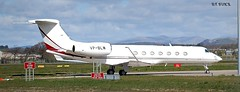 VP-BLW  GULFSTREAM G550 (douglasbuick) Tags: plane private scotland airport flickr glasgow aircraft aviation jet executive gulfstream taxiing g550 egpf vpblw