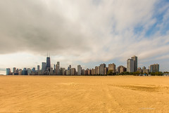 Desert Chicago (Jo Bet) Tags: chicago skyline illinois sand cloudy lakeshoredrive northavebeach chicagoist