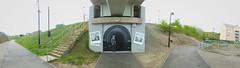 Peaceful Progress, Cardiff Bay (DJLeekee) Tags: bridge streetart marina graffiti bay authority cardiff progress peaceful tunnel mining coal commission penarth oldcardiff riverely pontywerin cardiffharbour