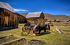 Old Wagon at Bodie (bay area man) Tags: park sunlight mountains colors grass wagon town nikon state outdoor ghost sierra historic bodie