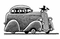 1936 Dragonmobile (Don Moyer) Tags: auto moleskine car ink notebook automobile dragon drawing ornament moyer brushpen donmoyer venhicle