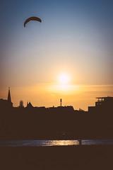 Windy (Markus Diekmann) Tags: sunset skyline cologne kln pollerwiesen sonya7ii samyang135f2
