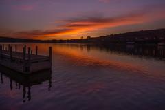 Sunset Over the Dock (eahackne) Tags: sunset portagelake houghton upperpeninsula keweenawpeninsula
