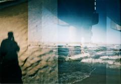 shadow, zinnowitz (maikdoerfert) Tags: bridge shadow sea beach water silhouette analog germany lomo lomography nikon waves balticsea diana shore dianaf overlapping zinnowitz northerngermany d90 nikond90 dianamini