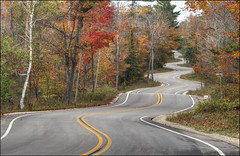 Curvy Road - Highway 42 - Door County, Wisconsin (helikesto-rec) Tags: road fall wisconsin highway doorcounty northport curvyroad highway42