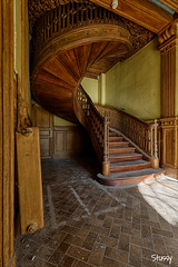CS-13 (StussyExplores) Tags: france stairs spiral decay social explore villa chateau manor exploration derelict urbex