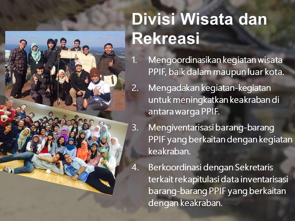 Divisi Wisata dan rekreasi