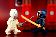 Kendo vs. Fencing: East meets West (Lesgo LEGO Foto!) Tags: cute love fun toy toys lego minifig collectible minifigs omg collectable minifigure minifigures legophotography legography collectibleminifigures collectableminifigure coolminifig
