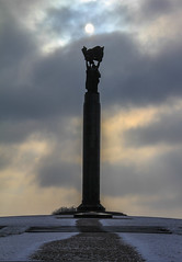 Cold Glory (Roblawol) Tags: park winter sky snow monument clouds grey memorial europe cloudy wwii ukraine victory worldwarii greatpatrioticwar zhytomir zhytomyr eternalglorypark eternalglorymemorial