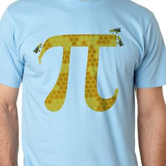 Honey Pi (sherwoodscot) Tags: orange yellow funny bees tshirt bee pi honey math 314 honeycomb pun piday funnytshirt pisymbol honeypie redbubble designbyhumans mathsymbol honeypi scottsherwood