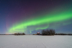 West Wing (WherezJeff) Tags: snow abandoned december neglected alberta aurora fields moonlight northernlights auroraborealis granary 2015 sturgeoncounty weatherandseasons