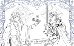 The tale of the Half Brothers (Criando Ideias) Tags: digitalart fanart tolkien valinor fingolfin feanor silmarils thesilmarilion
