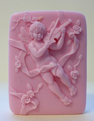 Angel with Violin $3.00 (Clelian Heights) Tags: cupid soaps unscented decorativesoaps cleliansoaps