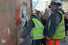 Banksy - London 2016 (Butterfly Art News) Tags: cosette streetart london stencil banksy crisis calais lesmis teargas lesmiserables qrcode miserables frenchflag 2016 migrants frenchembassy
