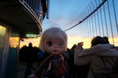Hi there! It's very wind at the lower observation deck (omgdolls) Tags: blythe blythedoll tippi pureneemobody simplyvanilla dollypunk21