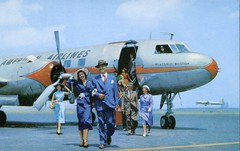 America Airlines (SwellMap) Tags: architecture plane vintage advertising design pc airport 60s fifties aviation postcard jet suburbia style kitsch retro nostalgia chrome americana 50s roadside googie populuxe sixties babyboomer consumer coldwar midcentury spaceage jetset jetage atomicage