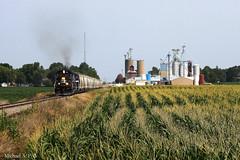 IR 7444 @ Grand Ridge, IL (Michael Polk) Tags: chicago burlington quincy illinois pacific railway grand ridge southern sd45 streator 7444 gp35 gyralight