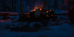 IMG_0610 (juusomattila) Tags: camping winter night fire hiking campfire tuli vaellus nuotio