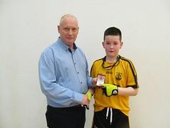 Boys U11 Final Winner Presentation Gary McAleer