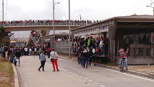 Miles de ciudadanos cerraron las vías para protestar por el mal servicio de Transmilenio