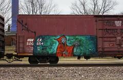Natas (quiet-silence) Tags: railroad art train graffiti flat railcar boxcar graff freight ctk natas fr8 mwcx mwcx500554