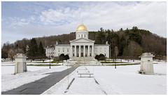 Vermont State House, Montpelier, VT. (Kurt Tarvis) Tags: winter house snow mountains green vermont state capital capitol bernie vt montpelier sanders berniesanders