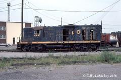 B&O 6497 on 9-3-79 (C.W. Lahickey) Tags: maryland bo cumberland emd gp9