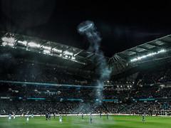 Silva's Halo? (jerryms) Tags: city cup liverpool manchester football fireworks stadium 5 smoke olympus semi ring final players em league omd everton 2016 rtihad