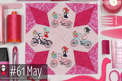 gnomeangel-farmers-wife-1930-block-61-may (gnomeangel) Tags: modern quilt quilting patchwork tutorial farmerswife fussycutting gnomeangel fussycuttersclub farmerswife1930
