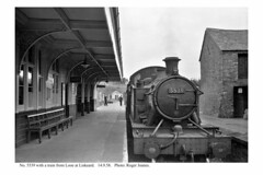 Liskeard. No. 5539 & train from Looe. 14.9.58 (Roger Joanes) Tags: greatbritain england blackwhite liskeard