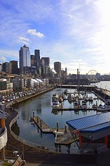 Pier View (anitakraft321) Tags: seattle city marina buildings boats pier waterfront cityscapes pugetsound pnw seattlewa uscities