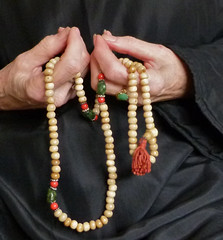Meditation with Mala Beads (Room With A View) Tags: beads hands buddhism mala myhands odc medtation