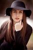 Anamaria (mugensx) Tags: portrait black girl beautiful beauty face hat zeiss dress bokeh sony alpha f18 dslr 135mm a900 13518