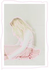 Inesatto (MitikaFe) Tags: pink white cute girl hair photography alone body pastel blonde