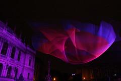 """1.26"" (Katie Abruzzi) Tags: pink net lights republic purple czech prague multimedia signalfestival"
