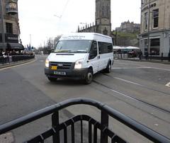 MJ2 3818 (Cammies Transport Photography) Tags: street england bus ford scotland coach edinburgh rugby v transit princes specials minibuses mj2 3818 mj23818 mampj