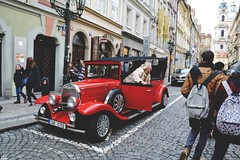 Prague (Cda Photography) Tags: old city boss red history ford car vintage town downtown centro rosso macchina città epoca storia rossa