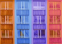 Coloured Windows (elmar theurer) Tags: windows art window architecture facade design artwork pattern geometry modernart fenster kunst grafik popart frame architektur framework muster farben geometrie artdesign graphique architectureporn modernarchitect architekturfotografie fensterscheiben archilovers architecturelovers