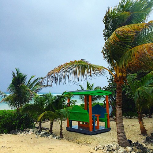 A windy day in Grand Cayman.