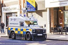 PSNI - Armoured Land Rover Penman - CCTV Station Patrol (Agent Tyler Durden) Tags: police cctv security policecar emergency pangolin riotpolice 999 armouredcar emergencyvehicle psni emergencyservice penman armouredlandrover policeservicenorthernireland policelandrover psnilandrover tacticalsupportgroup tacticalpolice