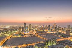 Kuwait - Warm Autumn Sunset Over Skyline Of Kuwait City (Sarah Al-Sayegh Photography | www.salsayegh.com) Tags: autumn sunset sky clouds canon photography cityscape skyscrapers bluehour kuwait koweit  leefilter leefilters canoneos5dmarkiii wwwsalsayeghcom sarahhalsayeghphotography infosalsayeghcom